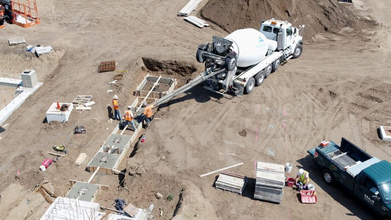 Concrete footings poured for River's Edge Hospital east patient wing