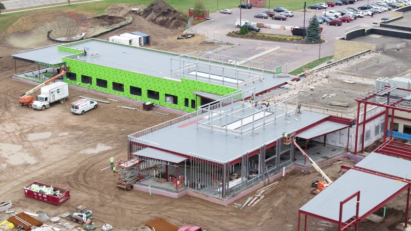 River's Edge Hospital construction- View of emergency department