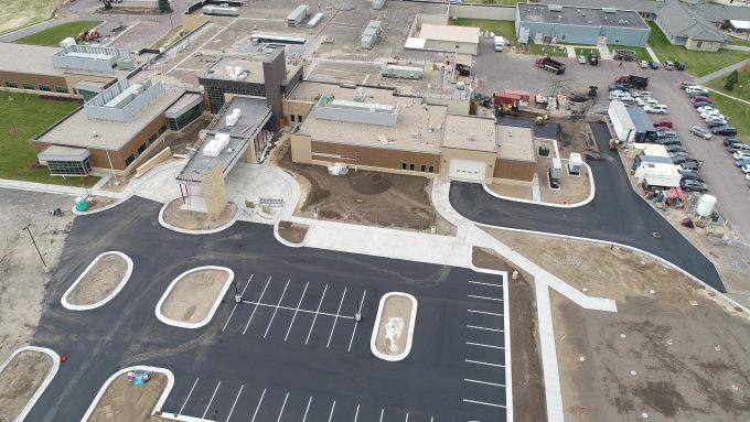 Paved new parking lot