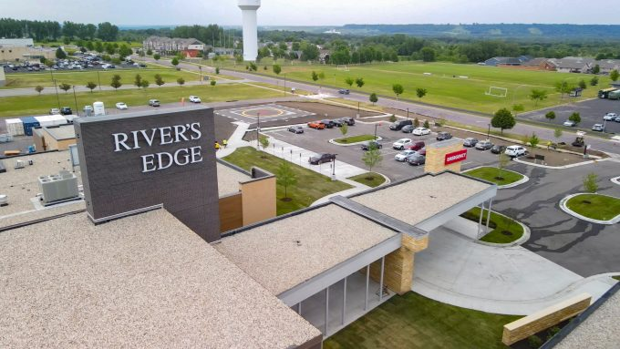 River's Edge Hospital Aerial view