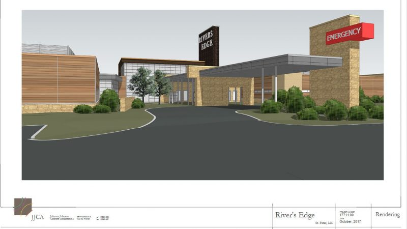 River's Edge Hospital new main entrance