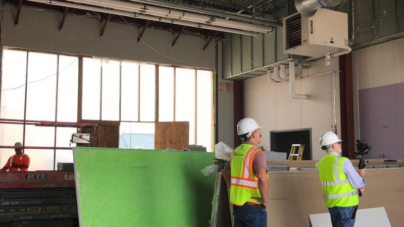 Ambulance garage under construction
