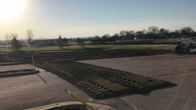Construction Begins on parking lot