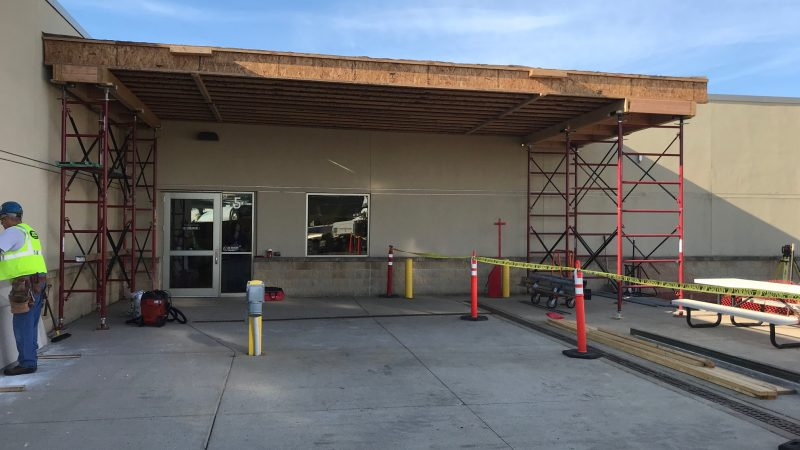 Emergency Room Entrance under construction