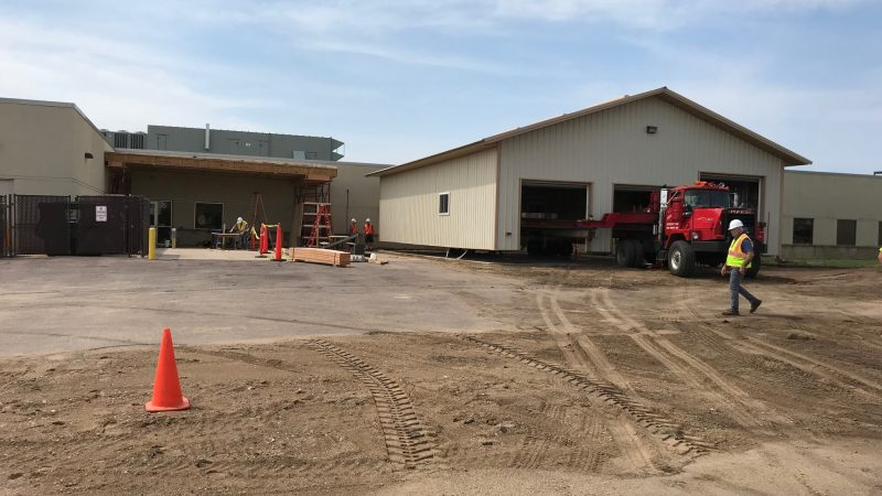 Shed moves to new location