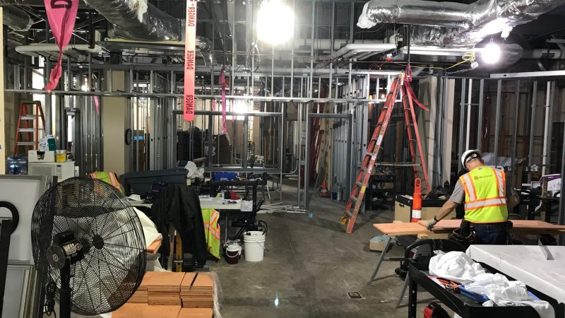 Physical & Occupational Therapy rooms under construction