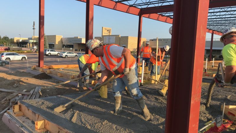 Concreted poured on River's Edge Hospital south patient wing