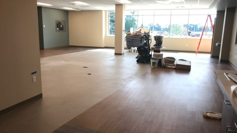New Therapy Department at River's Edge under construction