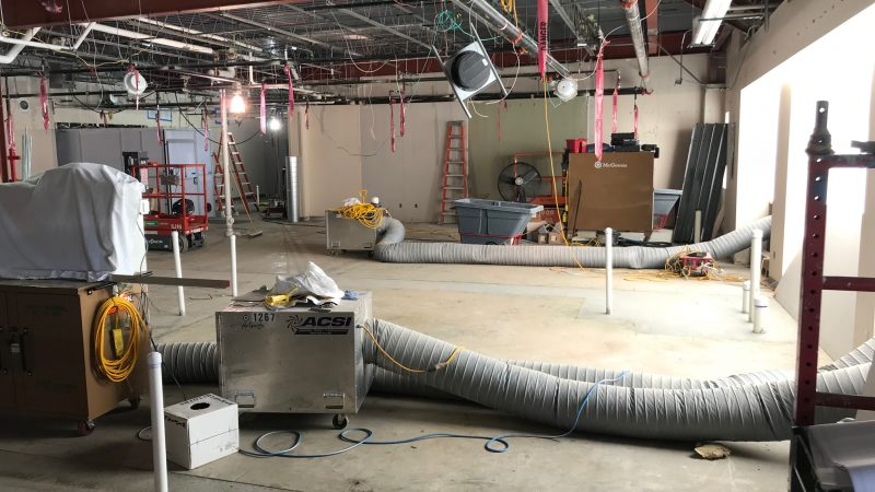 Former physical therapy department under construction