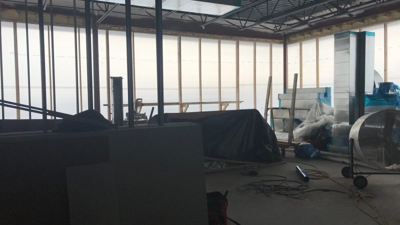 The River's Edge inpatient physical therapy area under construction