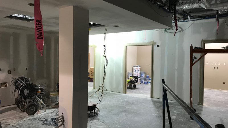 Same Day Surgery Nurse Station under construction