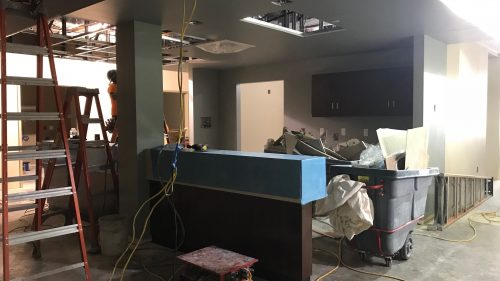 Same Day Surgery Nurse station under construction