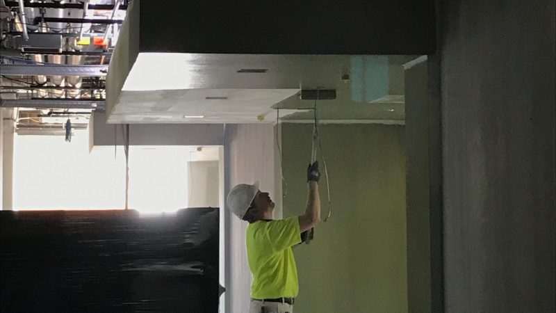 River's Edge East Patient Wing being painted